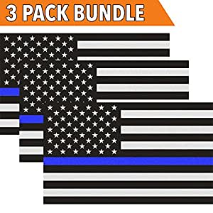 Amazon.com: Classic Biker Gear Reflective Thin Blue Line ...