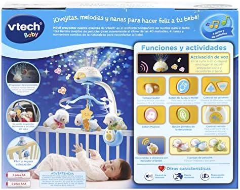VTech - Móvil proyector cuenta ovejitas dulces sueños para el bebé ...