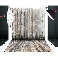 Yelewen 5x7ft Bokeh Planks Wood Floor Newborns & Children Thin Vinyl Customized Digital Printed Photography Backdrop Prop Photo Background