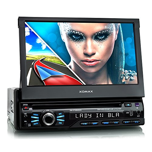XOMAX XM-DTSBN929 Autoradio / Moniceiver / Naviceiver mit GPS Navigation + Navi Software inkl. Europa Karten (48 Länder) + Bluetooth Freisprechfunktion + 7
