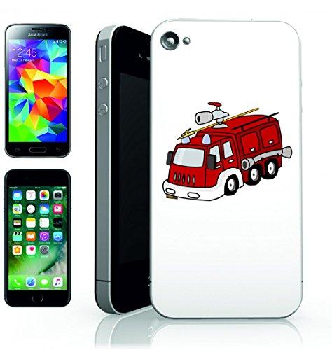 Smartphone Case Vigili del fuoco auto rosso di emergenza del veicolo di salvataggio del fuoco Vigile del fuoco della sveglia della sirena del tubo del Pericolo di aiuto per Apple Iphone 4/4S, 5/5S,