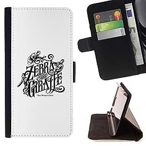 /Skull Market/ - ZEBRA GIRAFFE BOOK COVER WHITE BLACK For Samsung Galaxy S3 Mini I8190Samsung Galaxy S3 Mini I8190 - Caja de la carpeta del tir???¡¯???€????€??&c