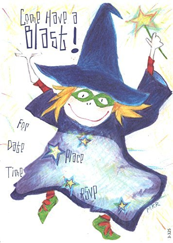 (Lil' Pickle Halloween Witch Invitations, Fill-In Style)