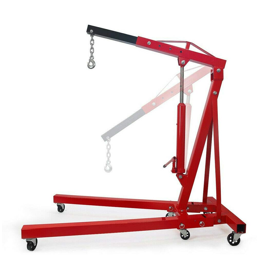 2 Ton 4,000 LBS Cherry Picker Engine Hoist Lift Shop Crane