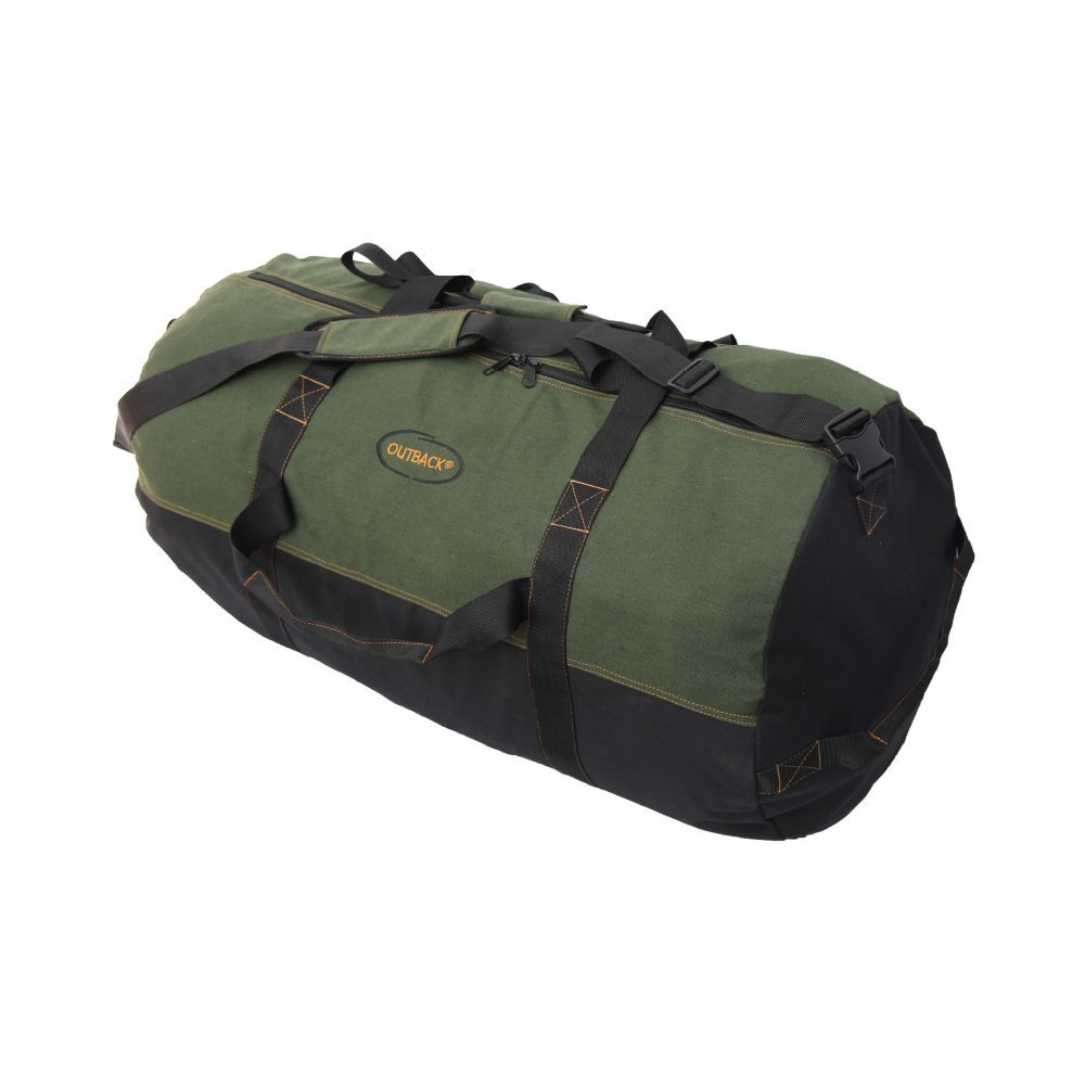 Gilbins Heavyweight Cotton Canvas Outback Camping Hiking Duffle Bag Large