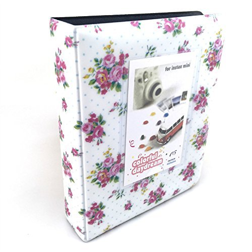 Hellohelio Fuji Instax Photo Album for Fujifilm Instax Mini9 Mini 8 Mini 25 Mini 90 Polaroid Cameras (White)