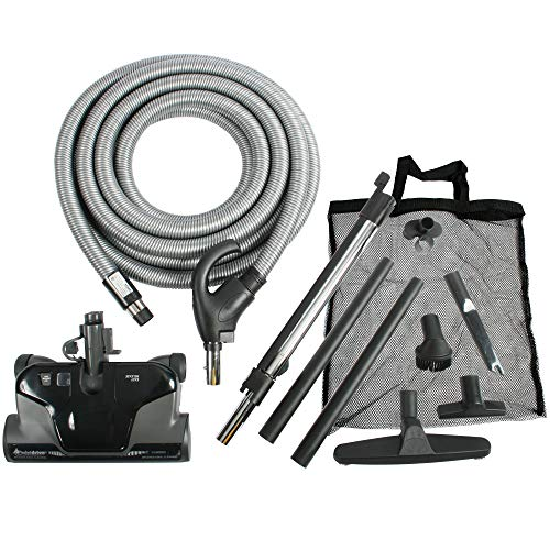 - Cen-Tec Systems 94071 Premium Total Control Central Vacuum Electric Powerhead Package with 30 Foot Hose, Black