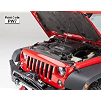 UnderCover NH1001-PW7 NightHawk Angry Light Brow - Jeep Wrangler JK - Bright White Paint Code PW7 by Undercover Tonneau
