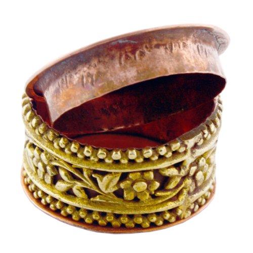 Brass and Copper Pill Box.