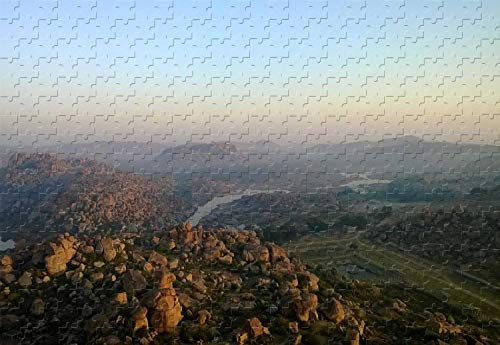 The Granite Boulders of Hampi India 500 Piece Jigsaw Puzzle 20.6 X 15.1'' Wooden Puzzle