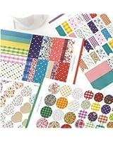 Deco Fairy 4 Sheets Lovely Decorative Adhesive Sticker Tape / Washi Masking Sticker Tape Set