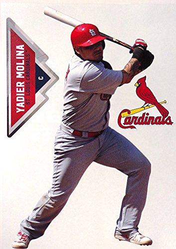Yadier Molina Mini FATHEAD + St. Louis Cardinals Logo Official MLB Vinyl Wall Graphics 7