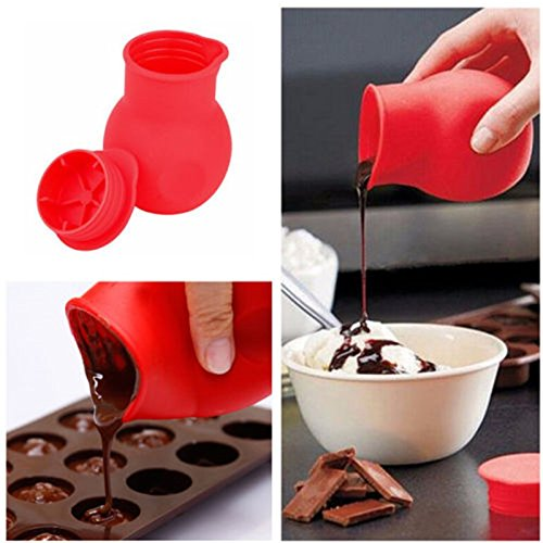 Money coming shop High Quality Practical Silicone Chocolate Melting Pot Mould Butter Sauce Milk Baking Pouring Free Shipping