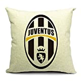 SPILLOWR Juventus Home Soccer Club Pillow Shams Throw Pillow Case Shell Decorative Cushion Cover Pillowcase Cotton Linen 18''X18