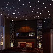 Glow in the Dark Stars (407pcs)Wall Stickers,Efitty Round Dot Luminous Glow in the Dark Mini Star Decal Home Decoration Kids Room Decor