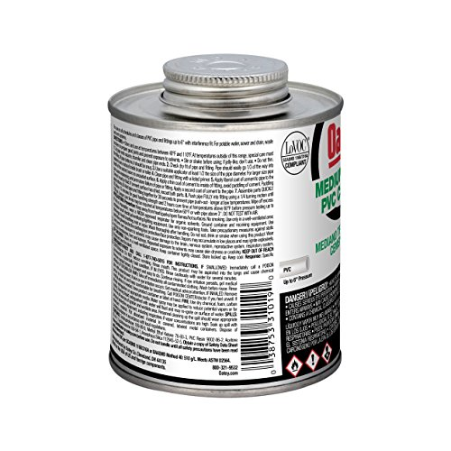 Oatey 31018 Hydraulic Cements, 8 oz, Clear - Drain Cleaning Equipment - Amazon.com