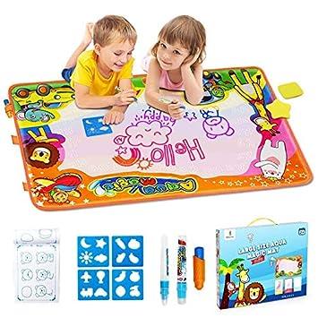 d0574c567d EpochAir Kids Baby Toddler Wasser Zeichnen Matte Toy mit 2 Stiftes, 86 x  57cm, ...