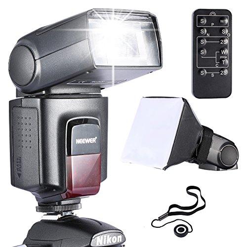 Neewer® TT560 Speedlite Blitzgerät *Luxus Ausstattung* für Canon Nikon Sony Panasonic Olympus Fujifilm Pentax Sigma Minolta Leica und andere SLR Digital SLR Film SLR Kameras und Digital Kameras mit Single-Kontakt Hot Shoe - beinhaltet: (1)Neewer TT560 Speedlite Blitzlicht + (1)5 in 1 Fernbedienung für Canon Nikon Sony Pentax + (1)Universal Kompatibler Blitz-Diffusor + (1)Objektivdeckelhalter