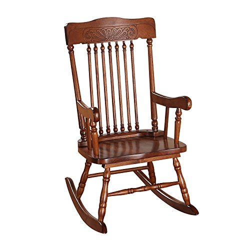 (Acme Furniture 59218 Kloris Youth Rocking Chair, Tobacco)