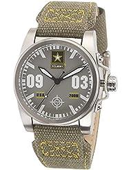 US Army Wrist Armor C1 Watch, Grey Dial, Grey/Yellow Canvas Strap