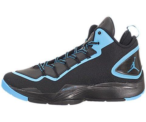 Nike Jordan Men's Jordan Super.Fly 2 PO Black/Dk Powder Blue Basketball Shoe 12 Men US (Black And Blue Jordans compare prices)