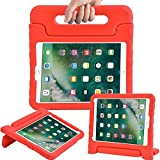 Surom New iPad 9.7 Inch 2017 Case - ShockProof Case Light Weight Kids Case Cover with Handle Stand Case for Apple iPad 9.7 Inch 2017 New Model - Red