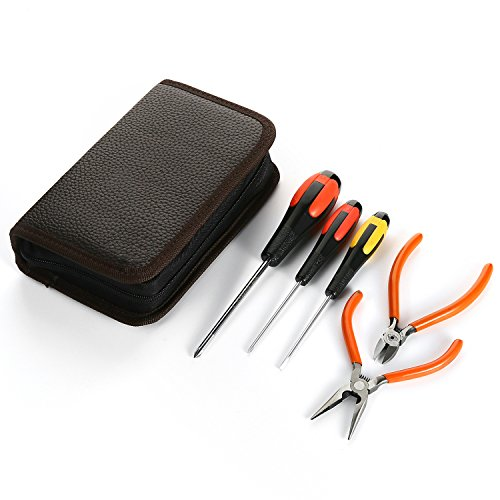 Pliers Set with Needle Nose Pliers, Wire Cutters, Phillips Screwdriver and Slotted Screwdriver Professional Repair Tool Kit (Case Screwdrivers Pliers)