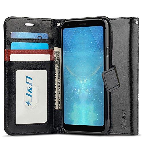 J&D Case Compatible for LG Q7/LG Q7 Plus/LG Q7 Alpha, [Wallet Stand] [Slim  Fit] Heavy Duty Protective Shock Resistant Flip Cover Wallet Case for LG