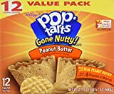 There are 12 toaster pastries. The flavor is Peanut Butter. Pop Tarts Gone Nutty! They are delicious!
