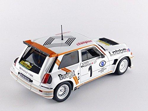 Solido - 1850005 - Coche Miniatura Renault 5 Maxi Turbo - Ganador del Rally de Armor 1986 - Escala a 1/18 - Blanco/Naranja: Amazon.es: Juguetes y juegos