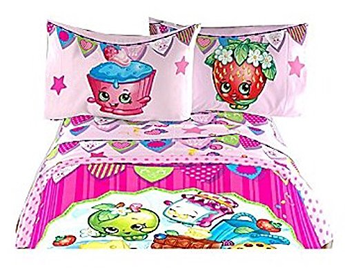 Shopkins Deluxe Microfiber Sheet Set w/ Pillow Case - Twin