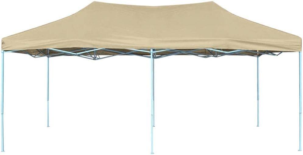 Tidyard Desplegable Carpa de Jardín Cenador para Patio Tienda para Camping Fiesta Celebraciones Evento al Aire Libre Boda Fiest Barbacoa Camping Blanco Crema 6x3x3,15m