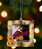 Guitar Christmas Ornament - Picture Ornament for a Guitar Player - Acoustic Guitar Frame