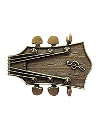 New Original Vintage Bronze Plated Guitar Music Belt Buckle Gurtelschnalle
