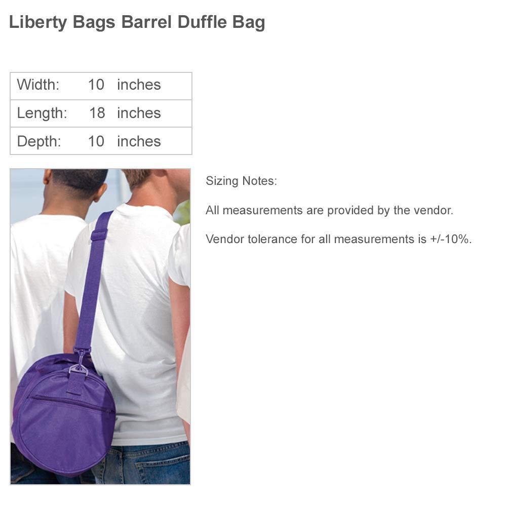 Metallic Gold Cheerleader Add Name Barrel Duffel Bag