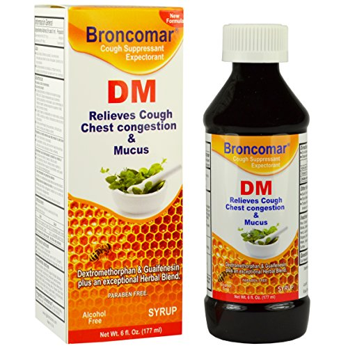 (Broncomar DM Relieves Cough Chest Congestion & Mucus Alivia la congestión en el pecho 6 oz)