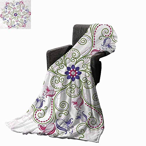 Mandala Couch Blanket,Round Flower Frame Design Classical, used for sale  Delivered anywhere in Canada