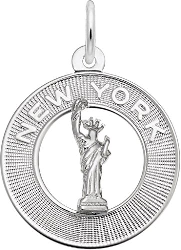 Rembrandt New York Statue Of Liberty Ring Charm - Metal - Sterling Silver New York Sterling Silver Charm