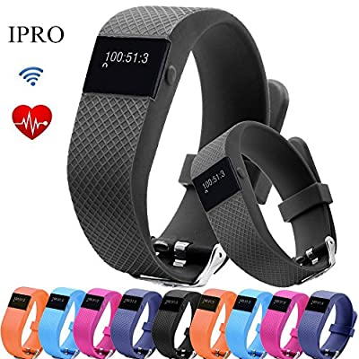 Pedometer Bracelet for Adults,IPRO TW64S Heart Rate Monitor Wristband Activity Fitness Tracker Water-Resistant Anti-lost Smartwatch with Call Reminder&Remote Control for IOS 7.1/Android 4.4