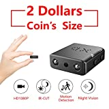 2018 ZTour Smallest Mini Hidden Spy Camera Security Surveillance Camera Covert Security Camera Nanny Camera Small DV DVR Camcorder Video Camera Recorder HD 1080P Tiny and Compact with Night Vision Motion Detection for Home Office Cars Backyard Store Warehouse House Indoor and Outdoor Surveillance etc