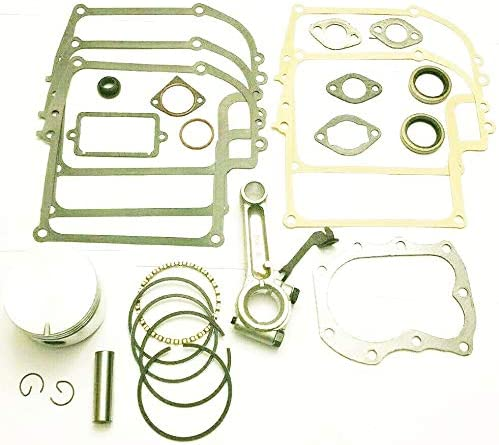 Connecting Rod and Seals Lil Red Barn Fits Briggs /& Stratton 8hp Model Ranges 190400 Through 196799 Engine Overhaul Rebuild Kit with Piston,Rings Gaskets