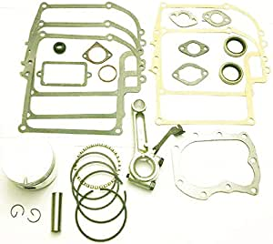 Lil Red Barn Fits Briggs & Stratton 8hp Model Ranges 190400 Through 196799 Engine Overhaul Rebuild Kit with Piston,Rings, Connecting Rod, Gaskets, and Seals