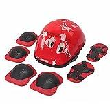 TFWADMX Kids Skateboarding Protective Gear Helmet Child Skating Rollerblading Knee Elbow Pads