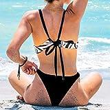 Women's Swimsuit Bikini Set Halter Zebra Print