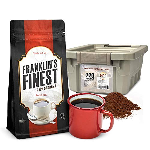 Franklin's Finest Survival Coffee 720-Servings by Patriot Pantry ()