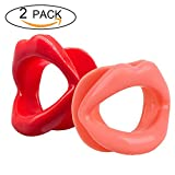 Facial Exercises Eye Wrinkles - 2 Pieces Healthy Safe Silicone Rubber Anti-wrinkle Anti-aging Face Slimmer Mouth Muscle Tightener Face Exercise Lips Trainer Face-lift