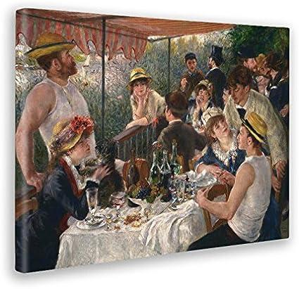 Giallobus - Cuadro - Impresion EN Lienzo - Renoir - Almuerzo DE LA Fiesta del Barco - 50 x 70 CM