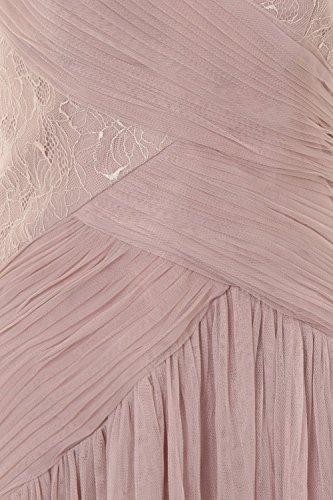 Little Mistress - Vestido - sujetador bandeau - Sin mangas - para mujer Visón