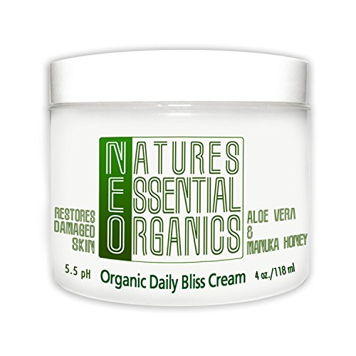 Aloe Vera Moisturizer! Organic Face and Body Cream. Advanced Healing For Dry Winter Skin. Safe Relief for the Whole Family! 4 oz.