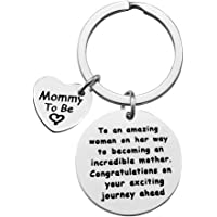 Mom to Be Gift New Mom Keychain Pregnancy Announcement Baby Announcement Gifts To an Amazing Woman On Her Way to…